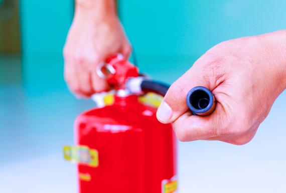 Tamaño de extintores